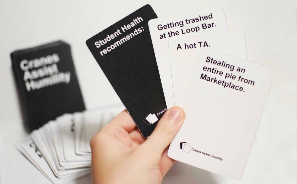 <p>Sophomore Kelsey Graywill has created cards relevant to Duke and other universities to enhance the popular card game Cards Against Humanity.</p>