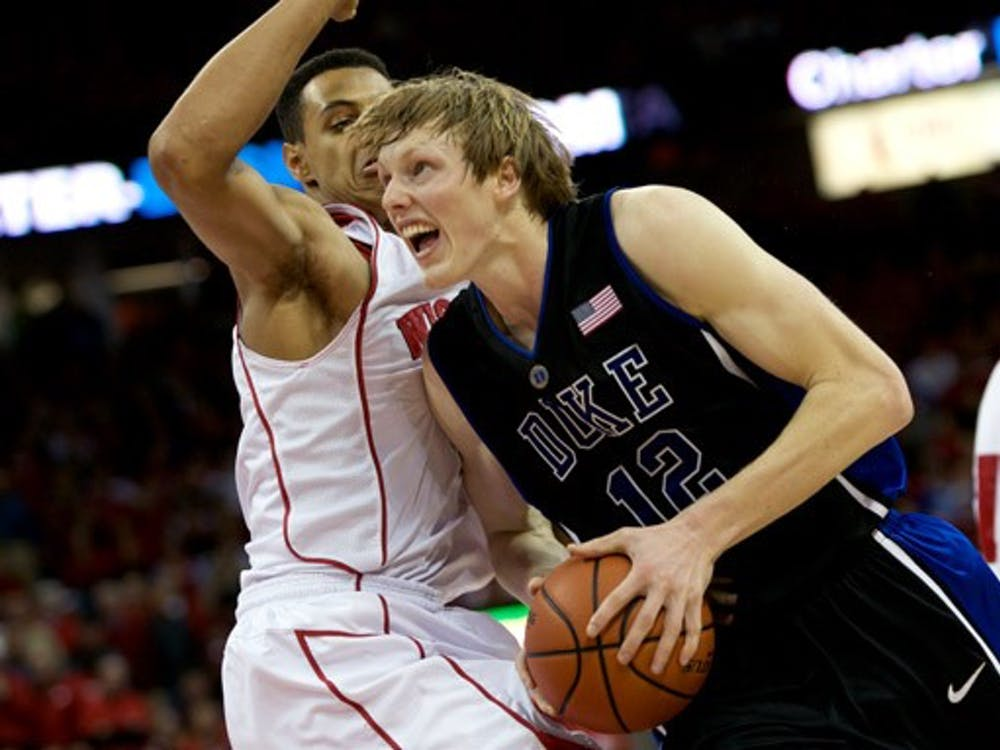 Junior Kyle Singler scored 28 points in a loss to Wisconsin in Madison, one of Duke's only two defeats. The Blue Devils have yet to win a true road game this season.