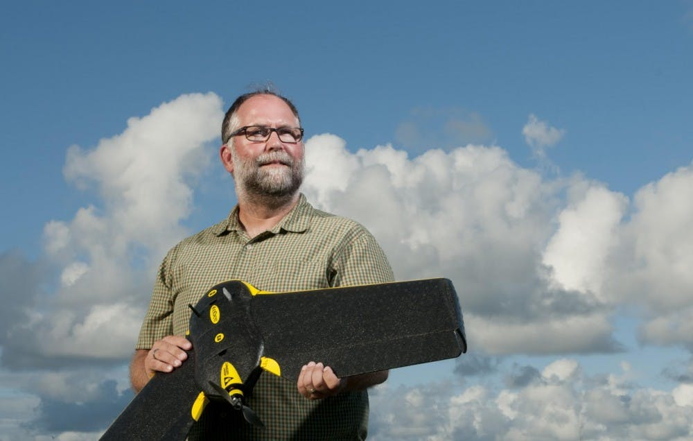 <p>David Johnston, executive director of the Marine Conservation Ecology Unmanned Systems Facility, is looking forward to deploying drones stateside to collect extensive data.</p>