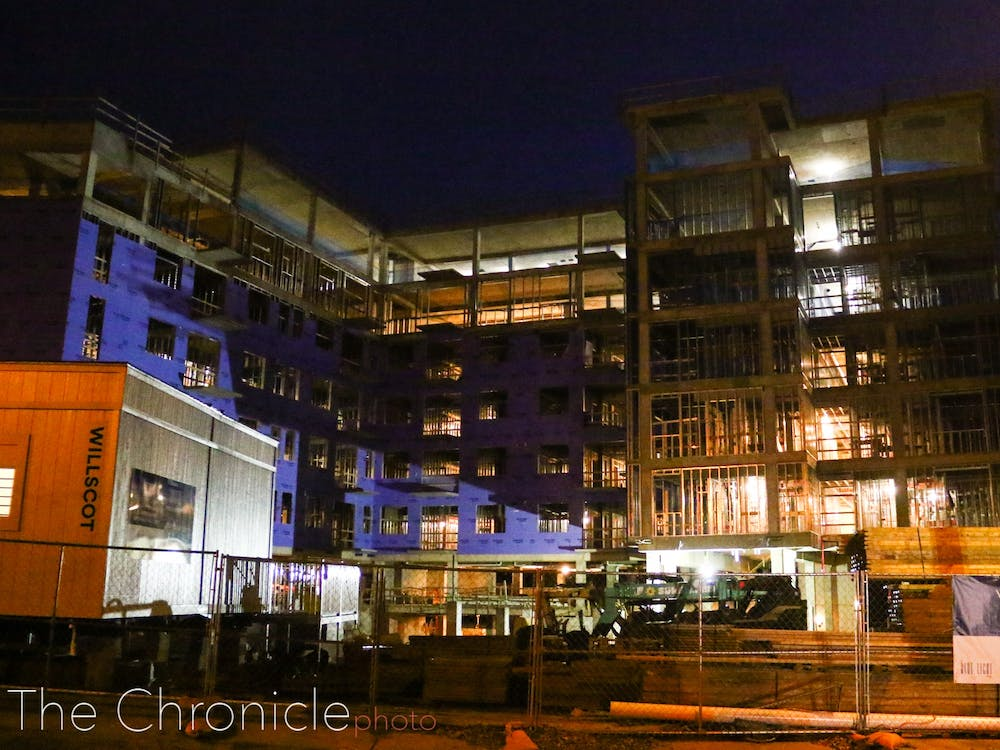<p>Blue Light Living, currently under construction, will replace Sam's Quik Shop.</p>