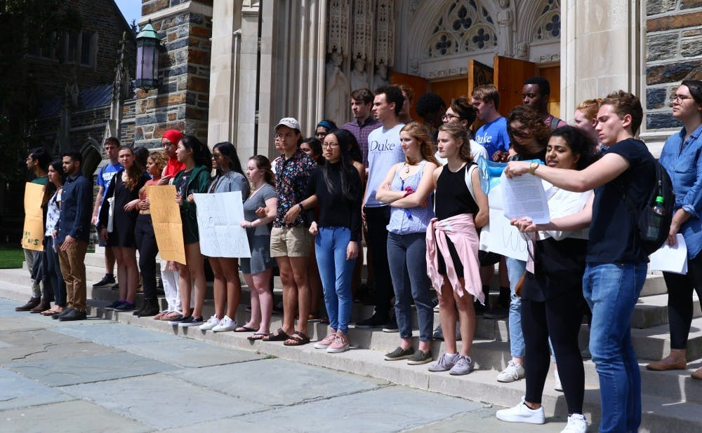 Group of students protests President Price's alumni address, issues