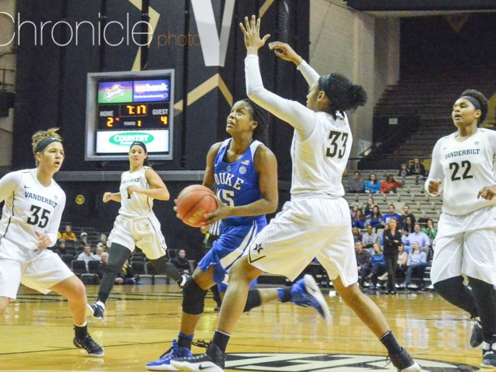 Sophomore Kyra Lambert led the Blue Devils with seven assists, but every time Duke had momentum, Vanderbilt responded.