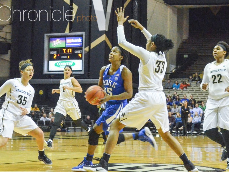 Sophomore Kyra Lambert led the Blue Devils with sevenassists, but every time Duke had momentum, Vanderbilt responded.