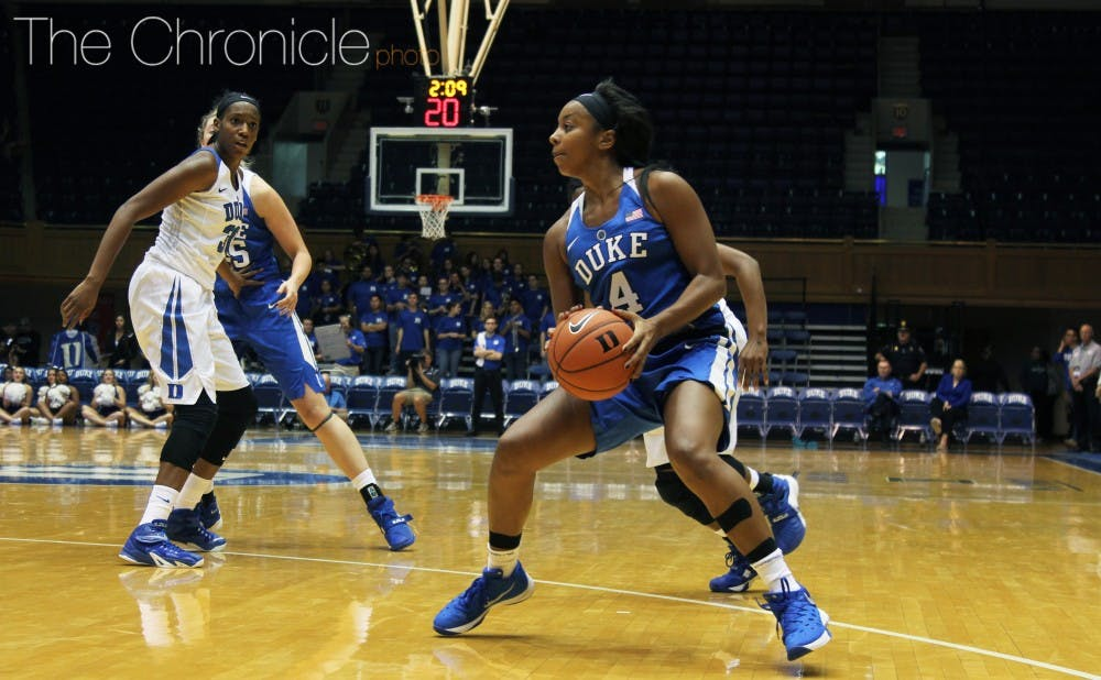 <p>Lexie&nbsp;Brown impressed at Duke's Blue-White scrimmage and will continue to test her teammates in practice this season.</p>