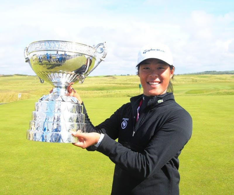 Senior Celine Boutieir won the Ladies' British Open Amateur June 13, guaranteeing herself a spot in RICHO Women's British Open and U.S. Women's Open later this summer.   Photo Credit Colin Farquharson