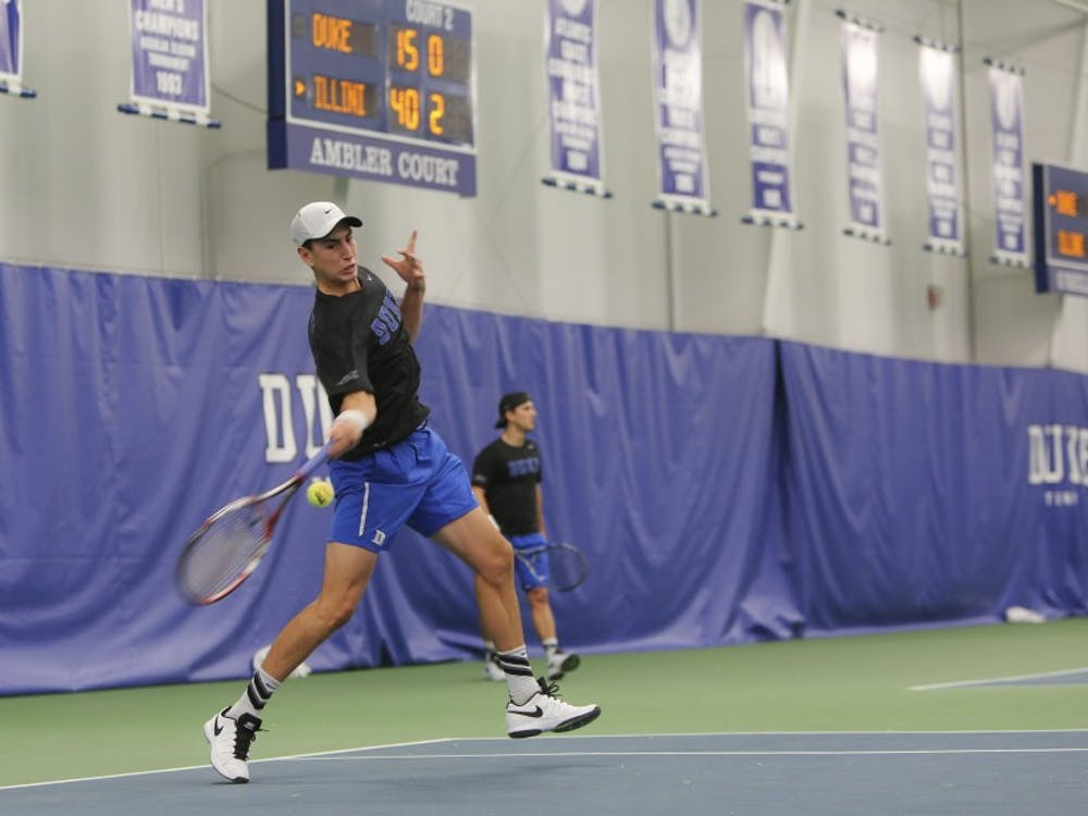 Sophomore Nicolas Alvarez dropped his first set, but bounced back to defeat Northwestern's Konrad Zieba in three sets Sunday.