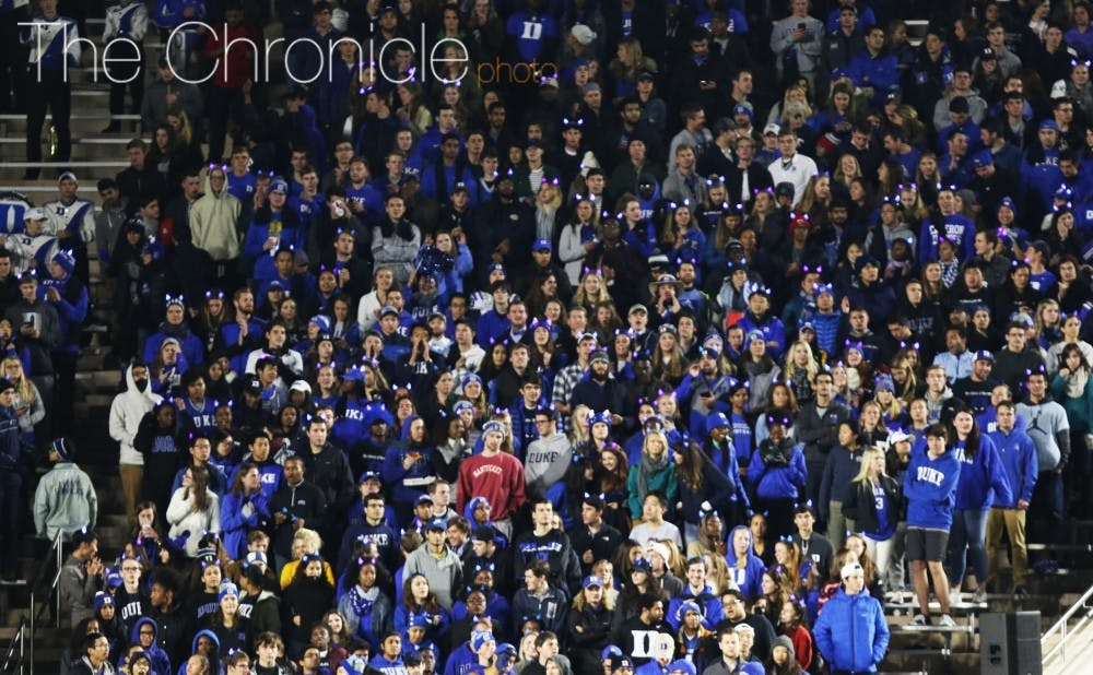 <p>In a survey of 894 randomly sampled undergraduates, more than 25 percent said they expected to have attended zero football games by the end of the season.</p>