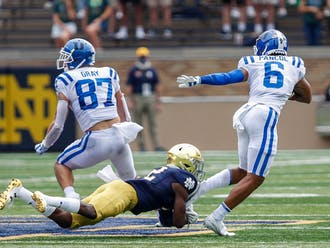 Noah Gray's receiving and blocking skills will be pivotal against Boston College.