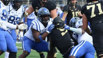 Dimukeje is second in Duke history with 21.5 sacks in 49 starts.