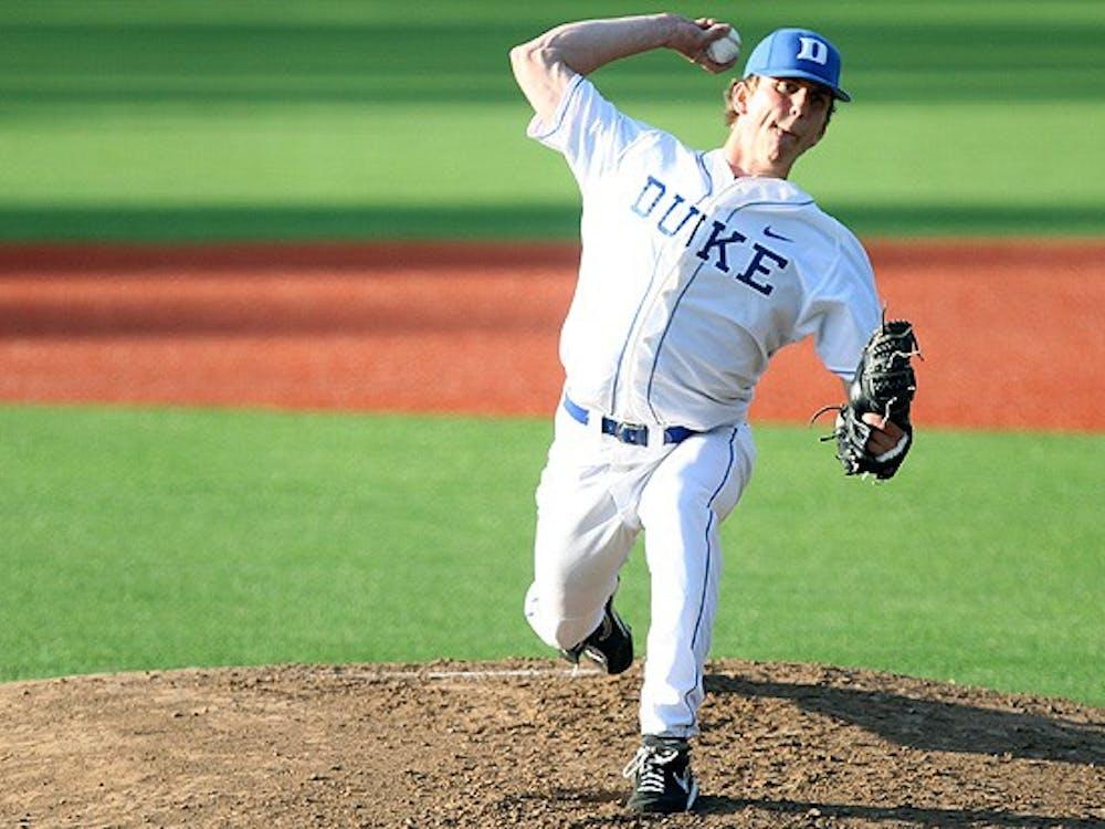 Freshman Nick Piscotty struck out seven in five scoreless innings when Duke faced Davidson March 27.
