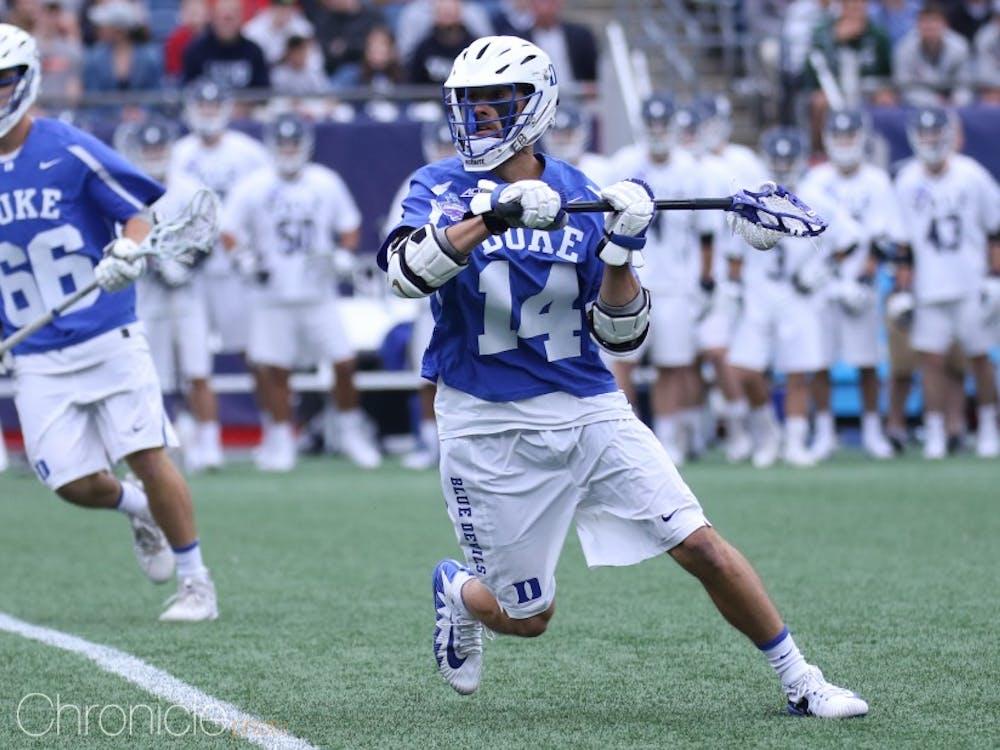 Justin Guterding led Duke men's lacrosse to the championship game.