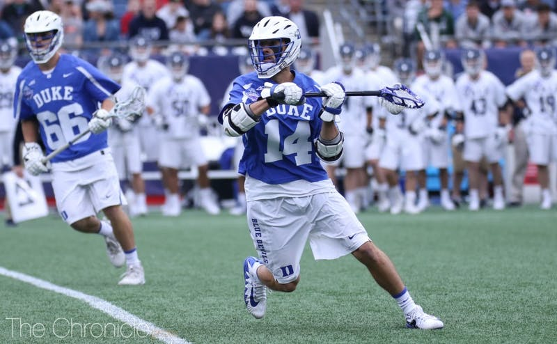 Justin Guterding led Duke men's lacrosse to the championship game.