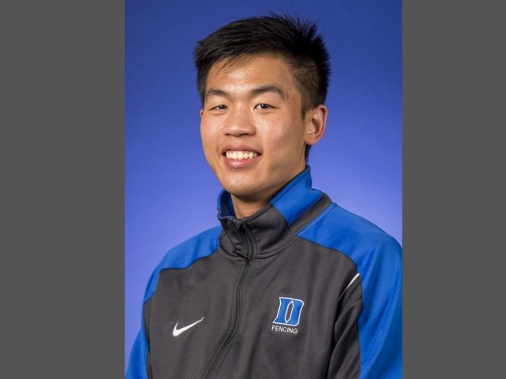 When Ping Ping Kitsiriboon's not fencing, you can often find him at Small Town Records. Courtesy of Duke Athletics.