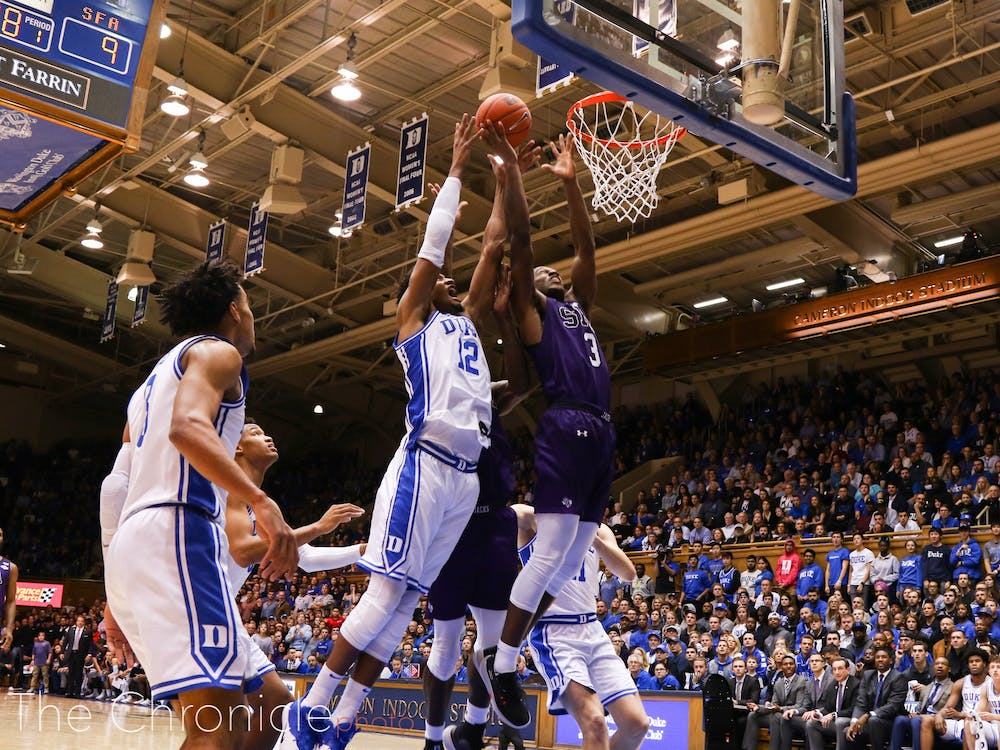 <p>Stephen F. Austin was simply the tougher team Tuesday night in the Blue Devils' loss.</p>
