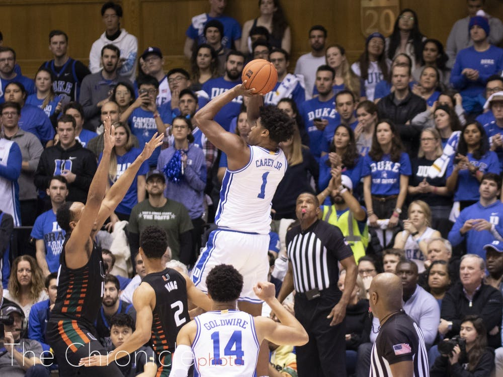 Despite a 30-point win against Miami, Duke falls another spot in the AP poll