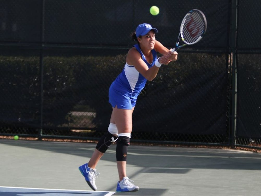 Senior Beatrice Capra and the Blue Devils will head west to Las Vegas to open their spring season against some of the nation's best competition.
