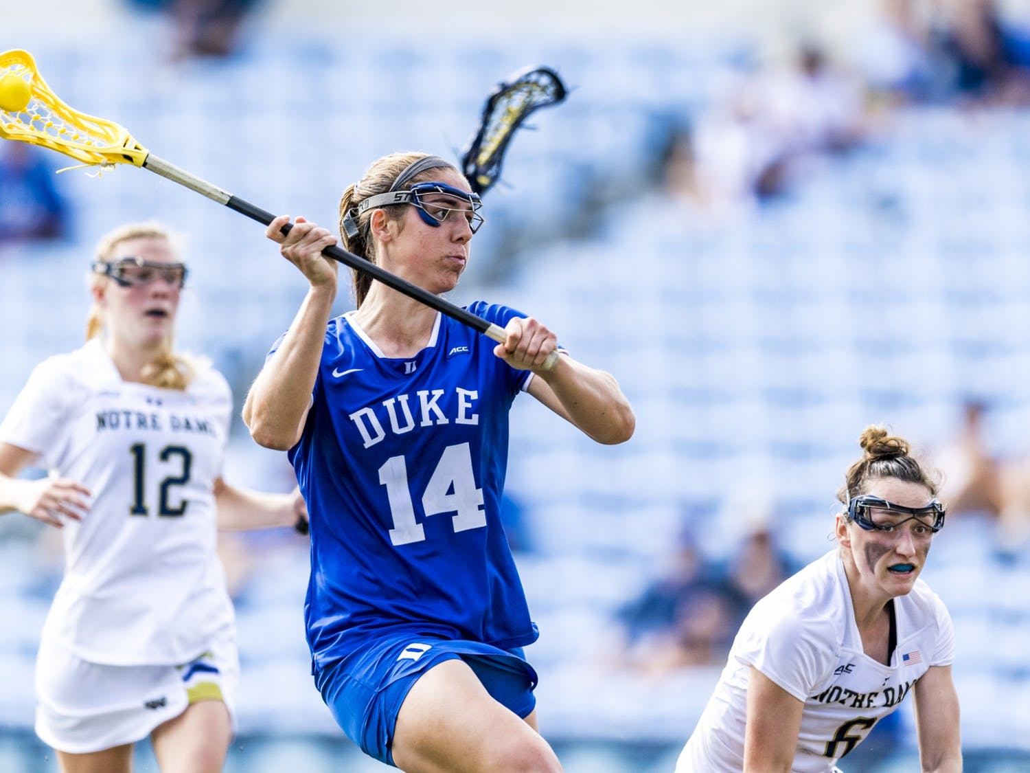 Maddie Jenner's hat trick was pivotal in bringing Duke back into the contest.
