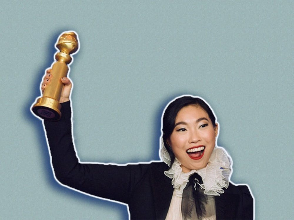 """<p>Awkwafina won a lead actress Golden Globe for her performance in """"The Farewell,"""" becoming the first person of Asian descent to do so.</p>"""