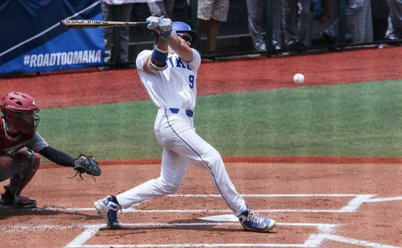 Griffin Conine has overcome his early postseason struggles to find a groove out of the cleanup spot the last few games for Duke.