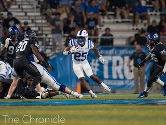 Led by Deon Jackson and Mataeo Durant, Duke's rushing attack impressed in the first half against the Orange.