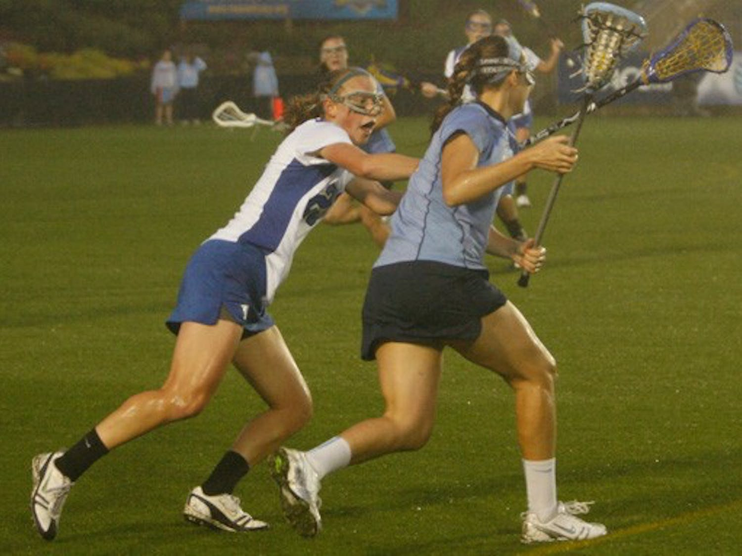 Amid a downpour, North Carolina went on an 8-1 run in a 17-minute span to take an insurmountable lead.