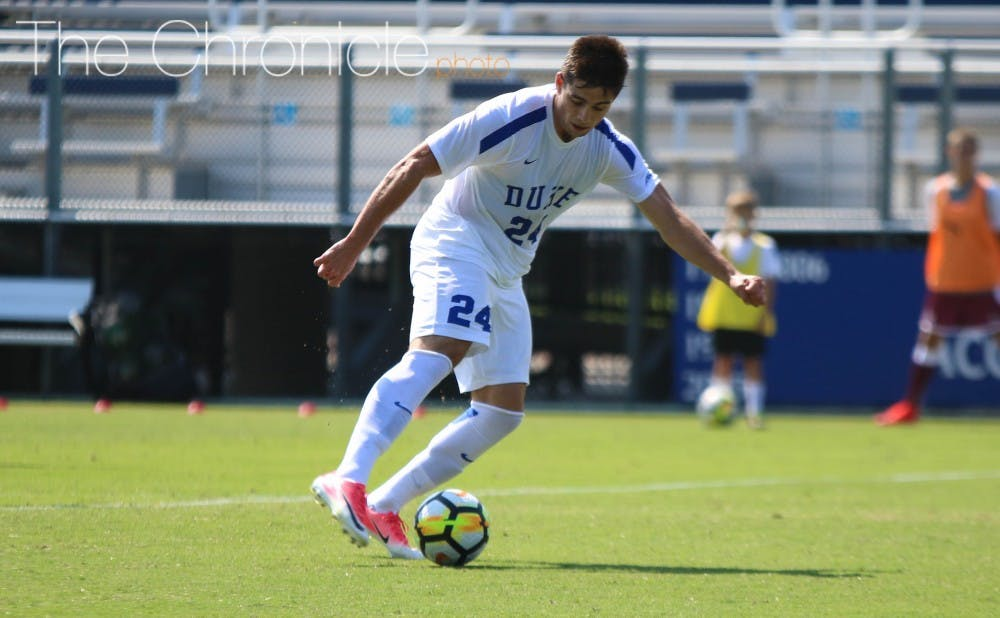 <p>Brian White scored 17 goals in 14 games this summer and carried that success to Duke, where he scored twice in the first weekend of the season. &nbsp;</p>