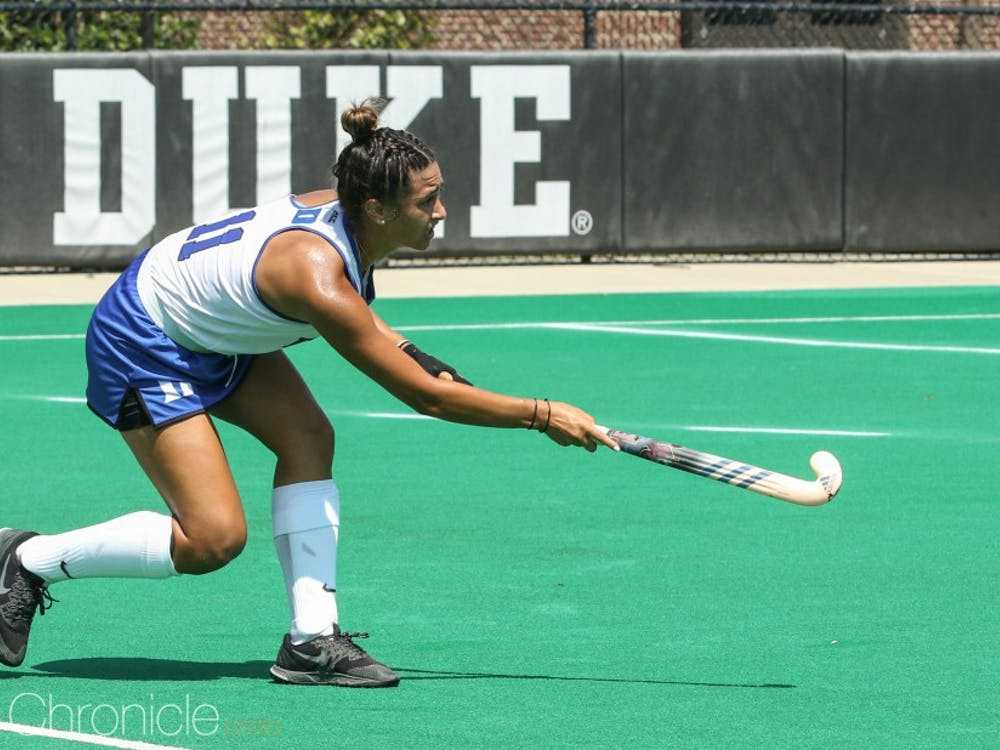 Carolina Andretta scored two goals for the Blue Devils Friday.