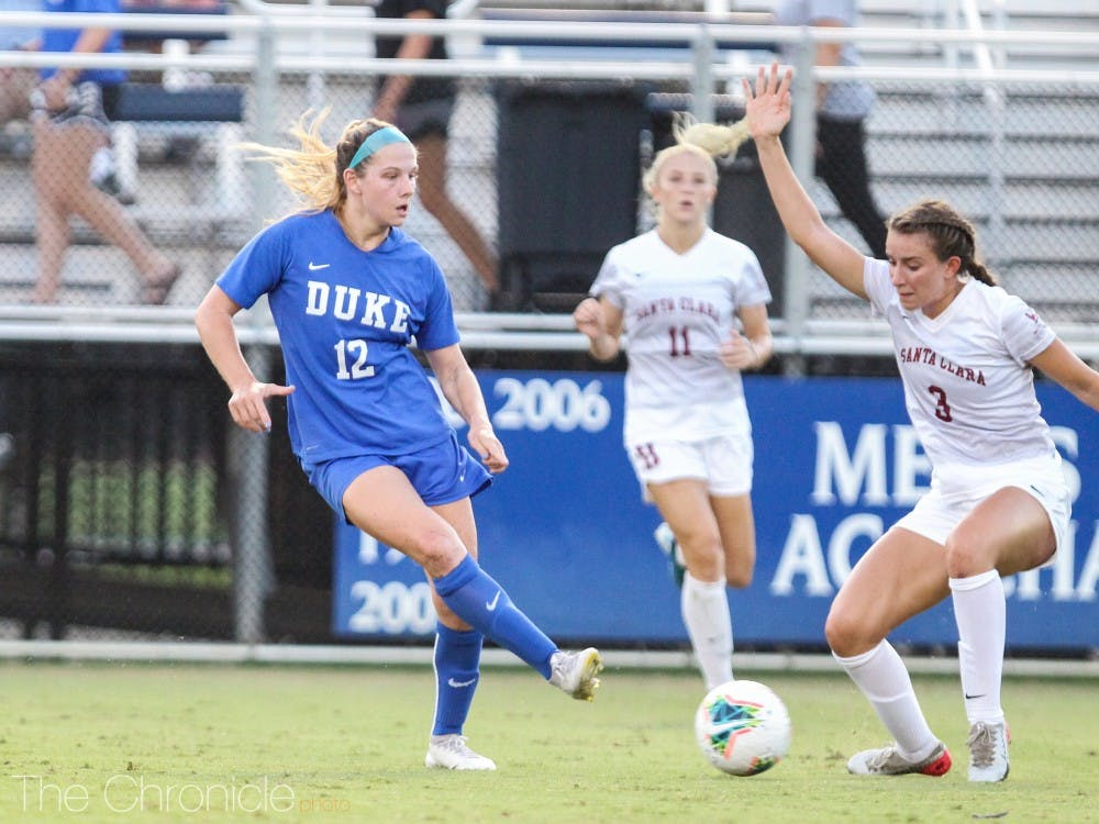 Marykate McGuire scored the game-winning goal for the Blue Devils in overtime for Duke's third score of the day.