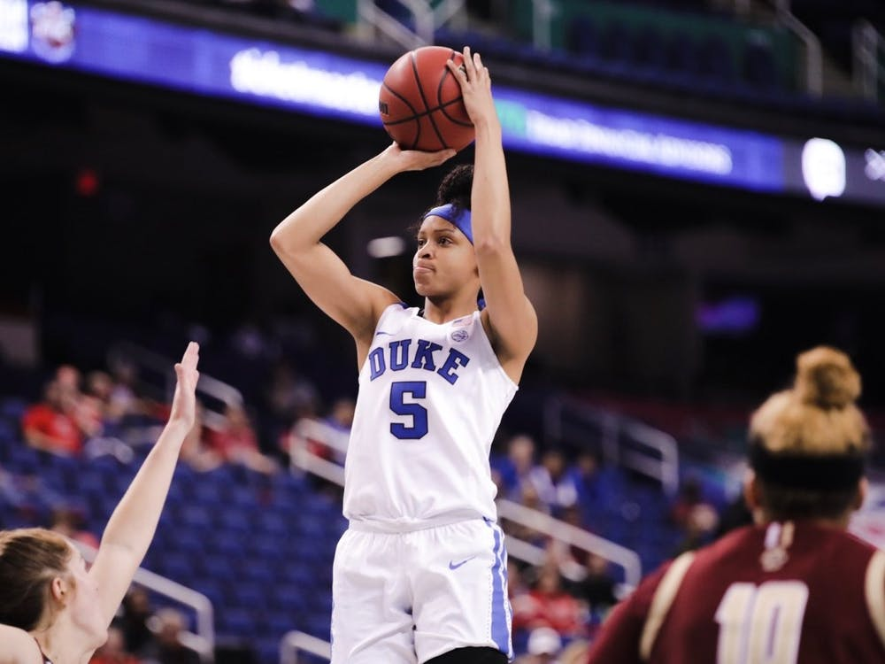 Leaonna Odom had 22 points on an efficient 11-of-18 for the field, but her performance was not enough to lift Duke to a win.
