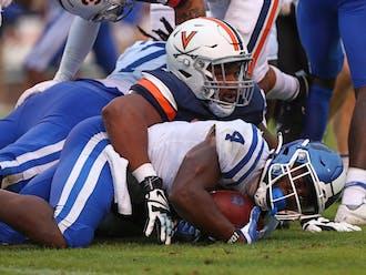 Deon Jackson led Duke with 49 rushing yards Saturday, 24 of them coming on one third-quarter run.