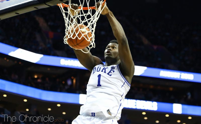 Zion Williamson led the Blue Devils from the outset in his home state of South Carolina.