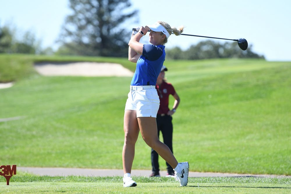 Junior Erica Shepherd finished the ANNIKA Intercollegeiate 6-under and in fourth place in the individual leaderboard.