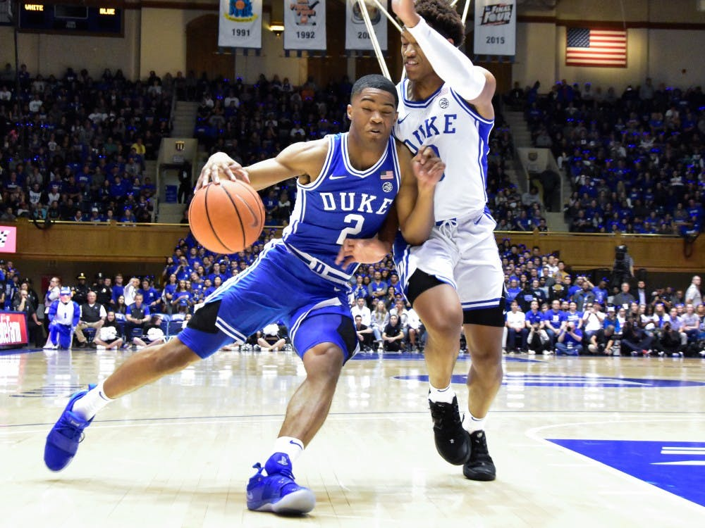 Countdown to Craziness brought the new Blue Devils and the Duke Men's Basketball fans together for the first time this fall. Check out photos from the student line, entrance, and scrimmage in Cameron Indoor Stadium from head photo editor Mary Helen Wood and associate sports editor Simran Prakash.