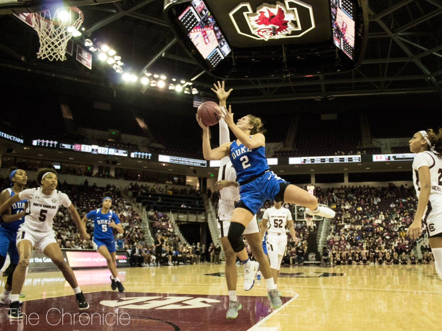 Haley Gorecki led the Blue Devils all year, averaging 18.5 points and 4.4 assists along the way.