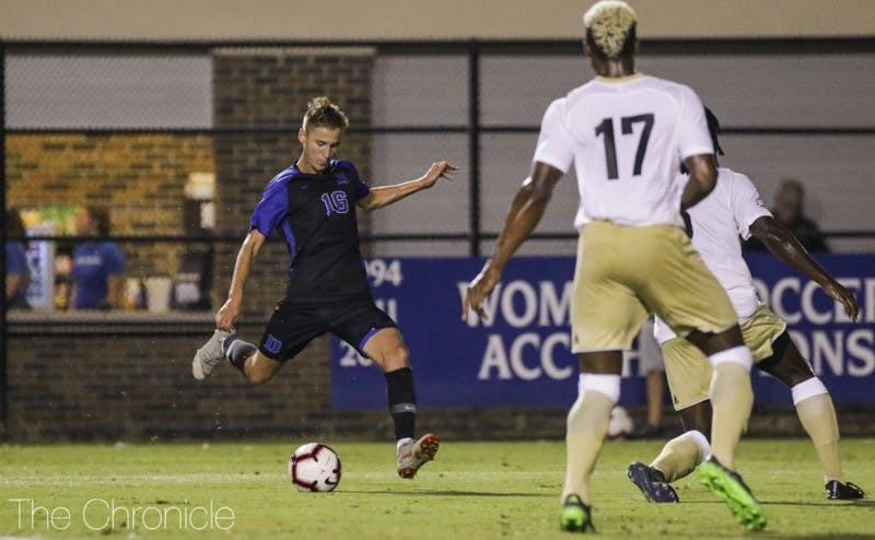 Daniel Wright notched the game-sealing goal in Duke's win over Wofford.