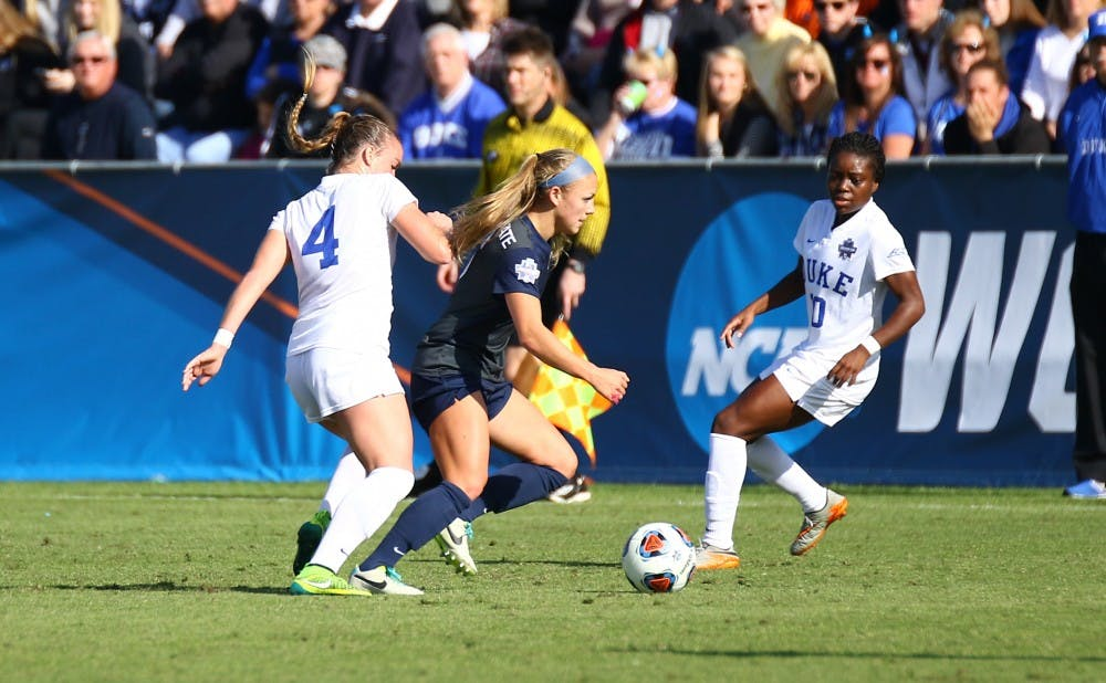 <p>The Blue Devils could not solve the Penn State defense Sunday and surrendered a goal in the 72nd minute that proved to be the difference-maker.</p>