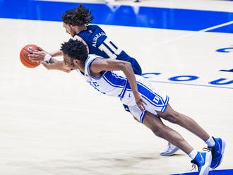 The Blue Devils got after it on both ends of the floor against the Yellow Jackets, hustling for loose balls until the final buzzer.