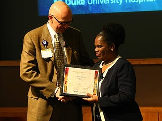 Betty Makoni, a gender activist who was raped when she was six years old, spoke about her work to Duke Medicine employees Tuesday.