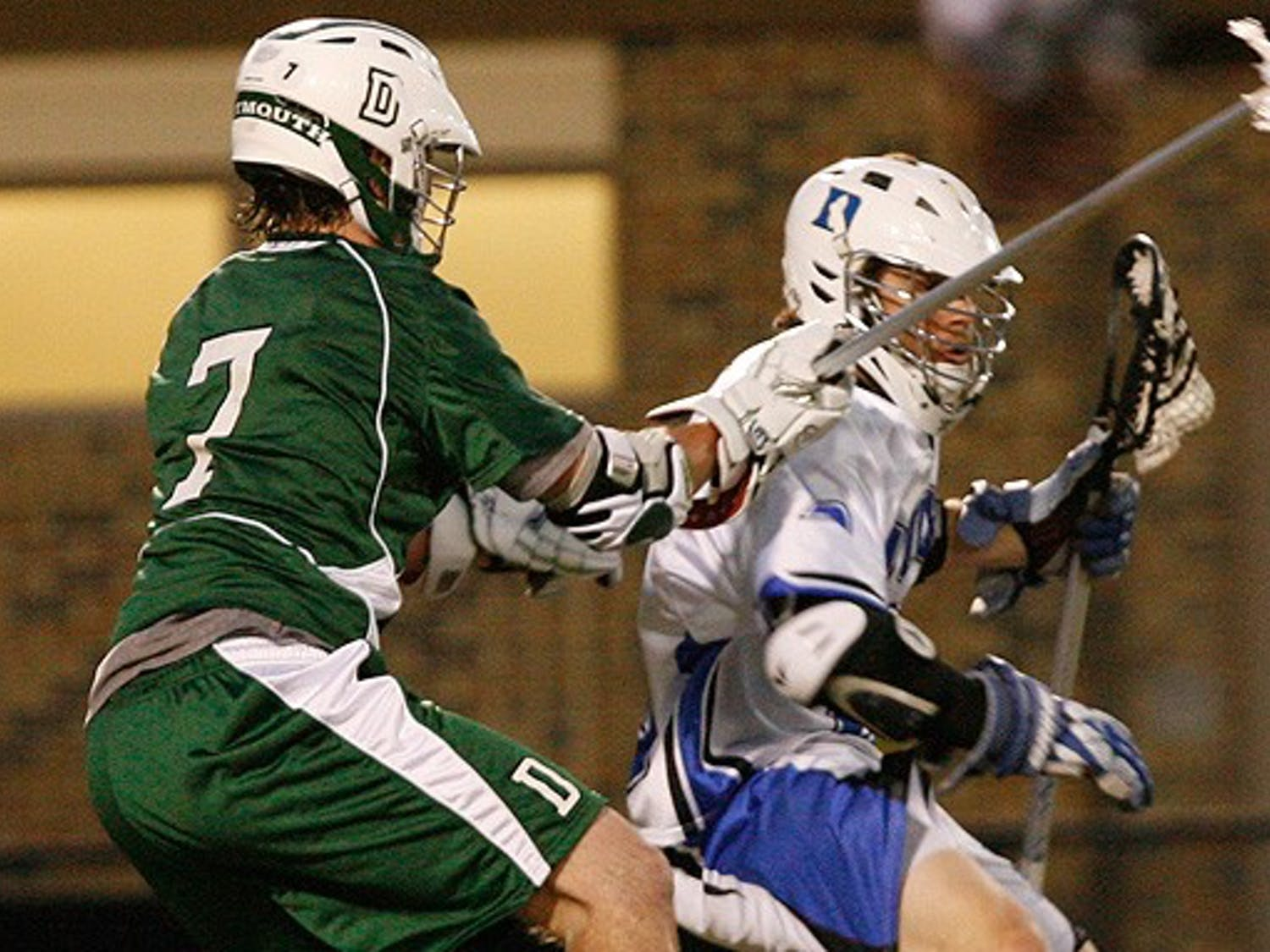 """There's no """"i"""" in team, but there is an """"i"""" in obliterate. And that's exactly what No. 10 Duke did Tuesday night, using suffocating defense and a relentless attack to overwhelm Dartmouth at Koskinen Stadium."""