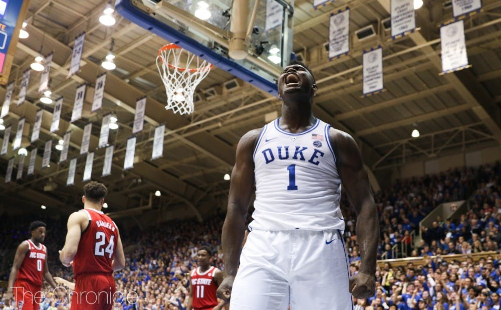 <p>Zion Williamson will need to make use of his size against the Tar Heels.</p>