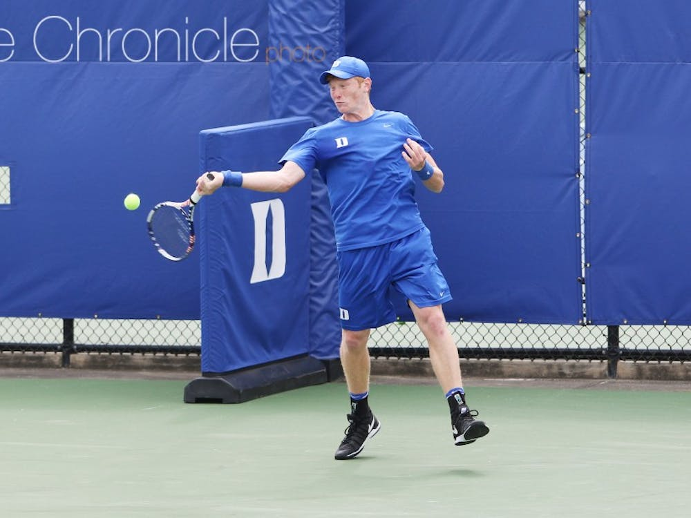 Sophomore Ryan Dickerson was involved in two close doubles matches this weekend and posted two decisive wins in singles as well.