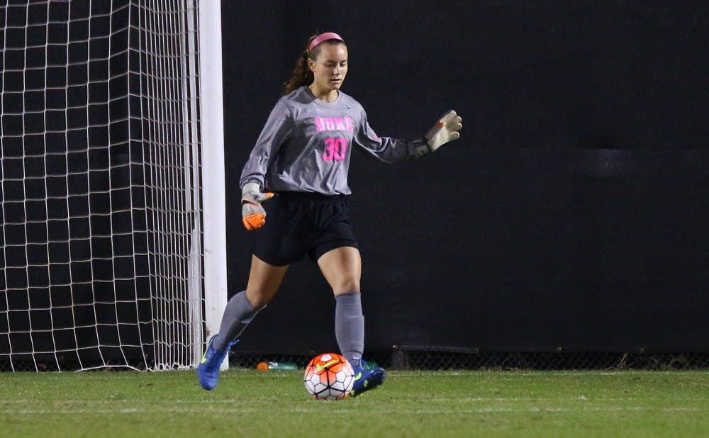<p>Goalkeeper E.J. Proctor and the Blue Devils can advance to the Sweet 16 with a win Friday against Florida Gulf Coast.</p>