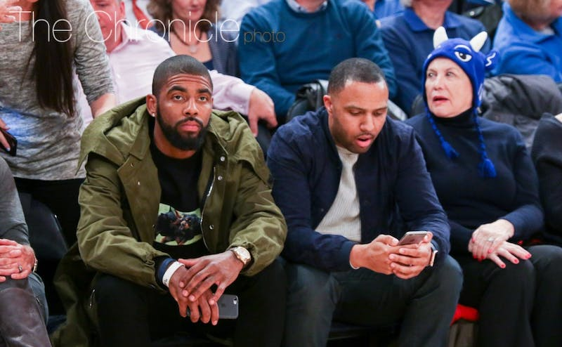 Kyrie Irving watched Duke beat Florida at Madison Square Garden a day before scoring 28 points to help the Cleveland Cavaliers beat the New York Knicks.