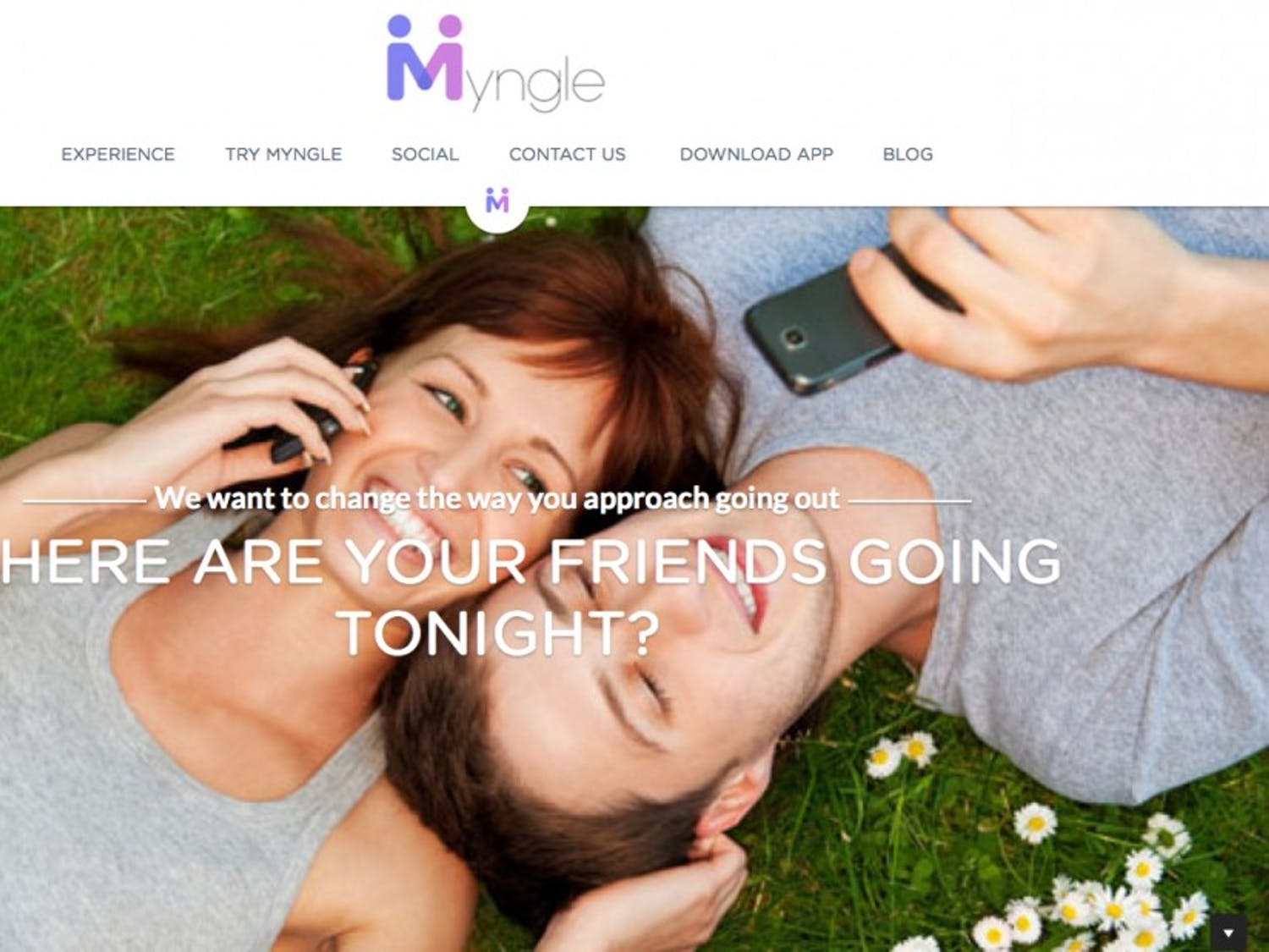 Myngle allows people to track where their friends are going out.