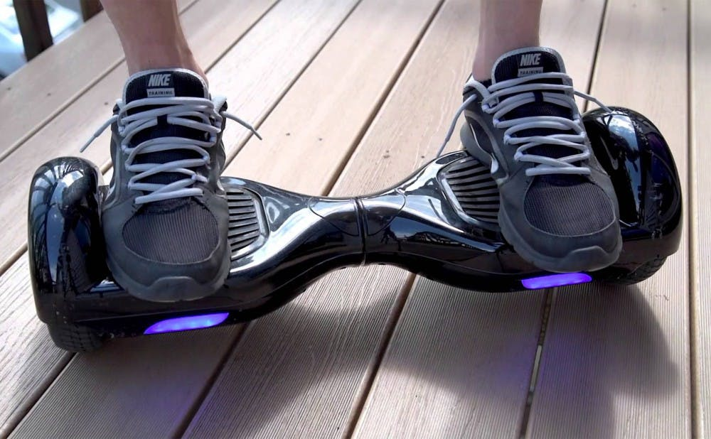 <p>Hoverboards have been reported to spontaneously ignite, leading approximately 20 colleges around the country to ban the self-balancing scooters.</p>