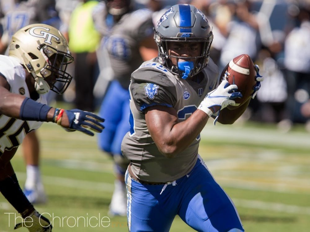 Deon Jackson broke away for a 75-yard touchdown run on the game's first play for scrimmage.