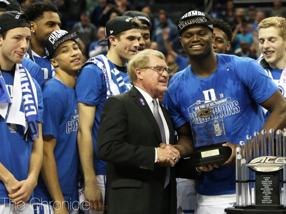 Zion Williamson became the first freshman in conference history to win ACC Player of the Year and ACC tournament MVP.