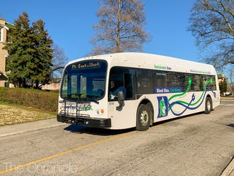 Two electric buses joined Duke's fleet in early February.