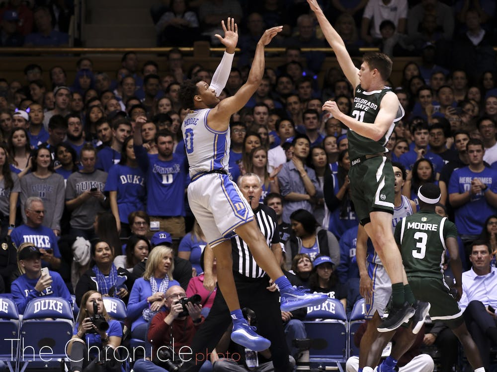 <p>Wendell Moore and the undefeated Blue Devils check in at No. 2 in the latest rankings.</p>