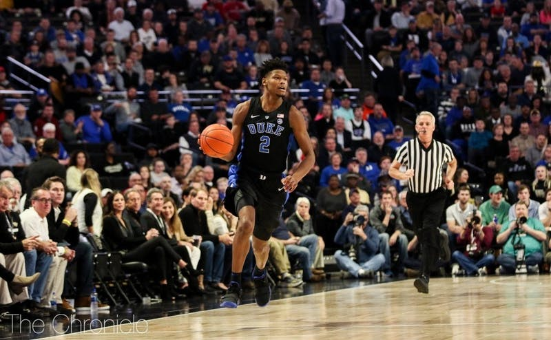 Cam Reddish will not start against Syracuse.